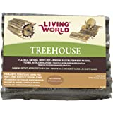 Living World Tree House Real Wood Logs, Large