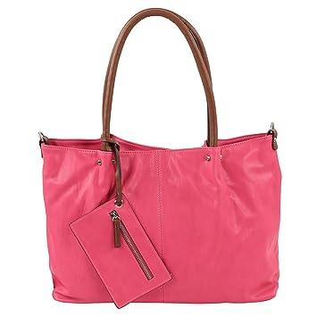 Maestro Surprise Cityshopper Handtasche Bag in Bag 45 cm, pink cognac*