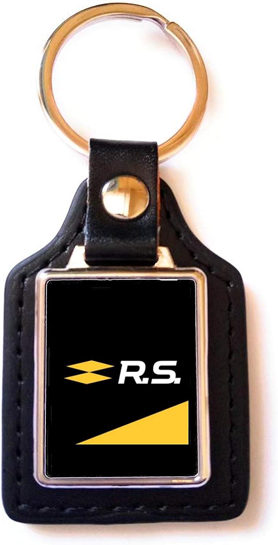 Print Corner Porte-cl/és Luxury Acier//Simili-Cuir Renault RS Logo 2018 Noir