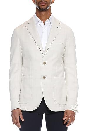 L.B.M. 1911 Chaqueta de traje - para hombre beige 50: Amazon ...
