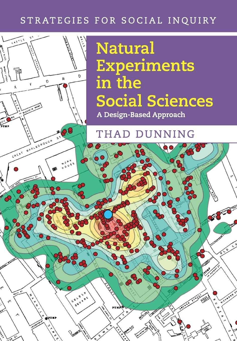 Natural Experiments in the Social Sciences: A Design-Based Approach  (Strategies for Social Inquiry): Amazon.co.uk: Dunning, Thad:  9781107698000: Books