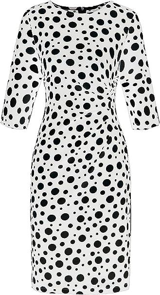 Rovinci Women Vintage Pencil Daily Dress Short Sleeve Bodycon 1950s Dress Plus Size O-Neck Ruffles Chiffon Dress Bohemian Womens Fashion Rose Printed Dress Above Knee Mini Casual Dress