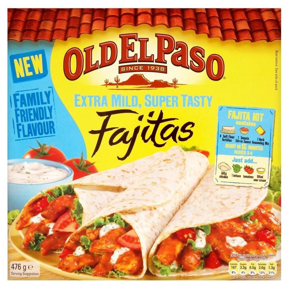 Old El Paso Extra Mild Fajitas (476g) - Pack of 2