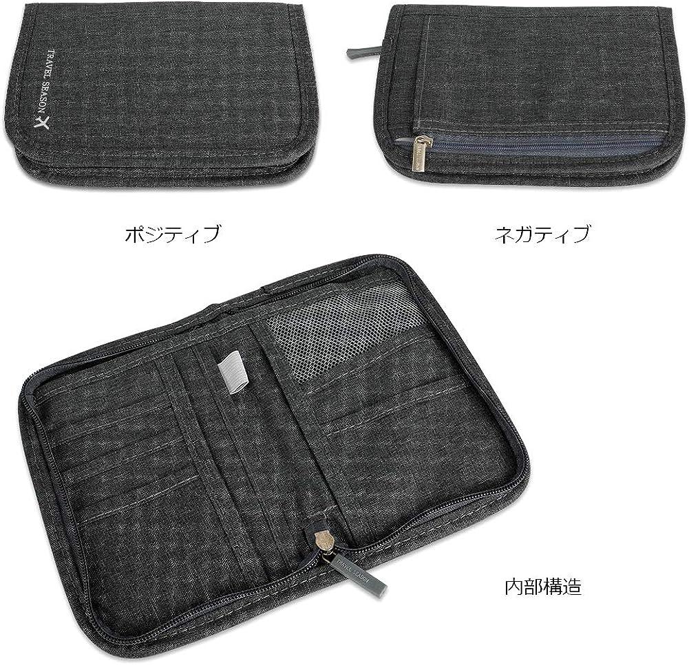 Travel Wallet Passport Holder RFID Document Organizer Multifunctional Document Organizer Case Money Ticket Card Coin Purse Zipper Bag Rlihana Waterproof Travel Wallet