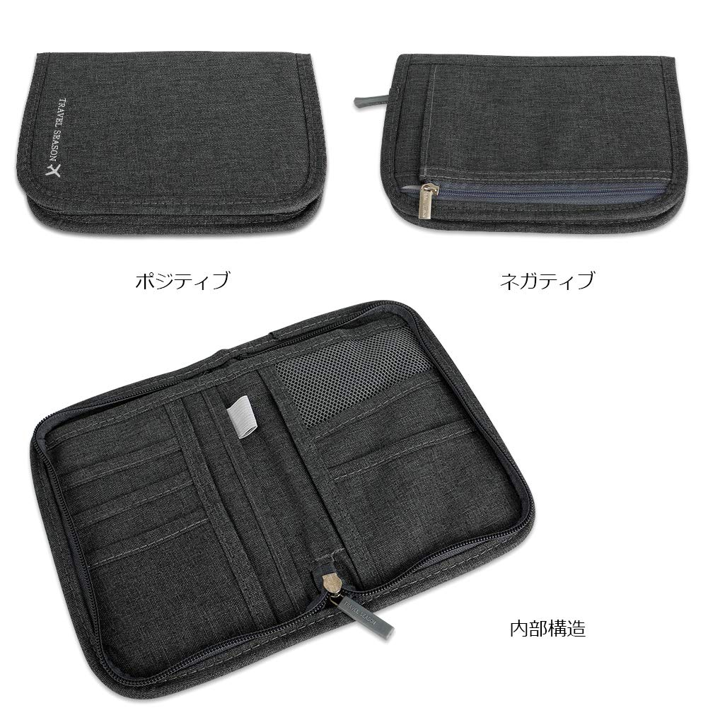 Travel Wallet Passport Holder RFID Document Organizer Multifunctional Document Organizer Case Money Ticket Card Coin Purse Zipper Bag wangjiankang Waterproof Travel Wallet