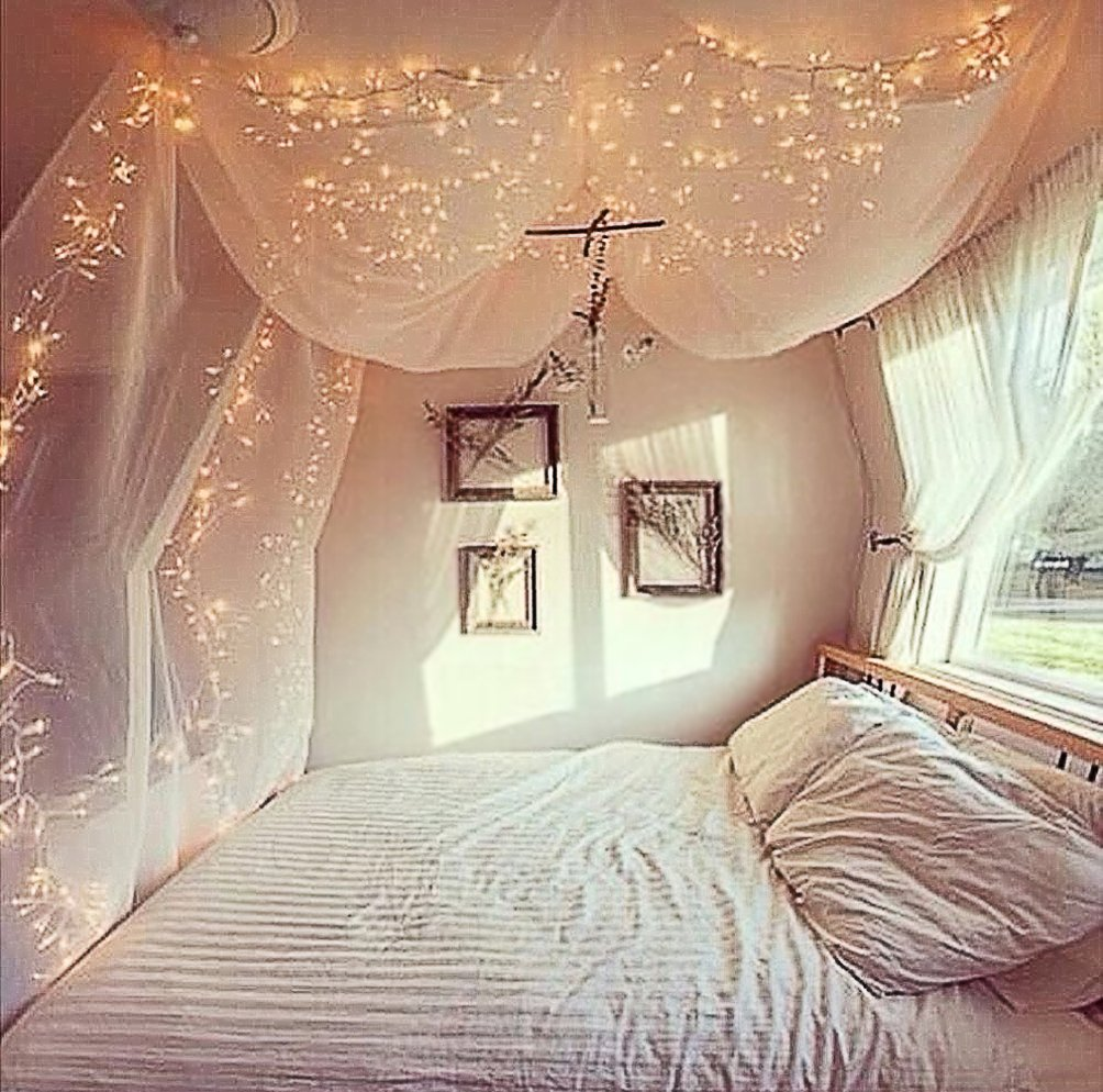 4 Corner Post Bed Canopy Mosquito Net Full Queen King Size Netting Bedding White4-Post Canopy by Best Music Posters (Image #3)