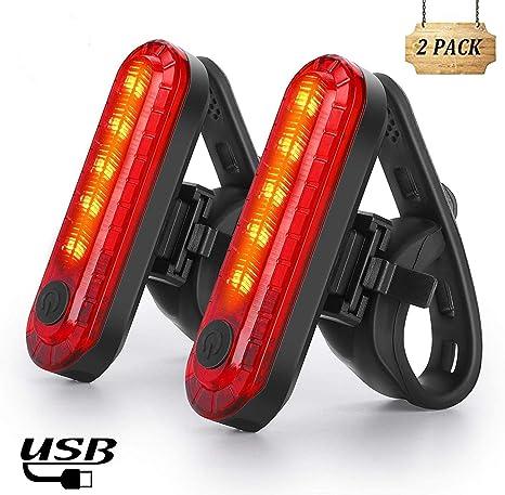 Nestling Luz Trasera para Bicicleta,Luz de Destello de Seguridad USB Recargable Ultra Brillante LED Rojo Fácil de Instalar, Impermeable,Faro Trasero Bici para Máxima Seguridad de Ciclismo(2 pcs): Amazon.es: Deportes y aire libre