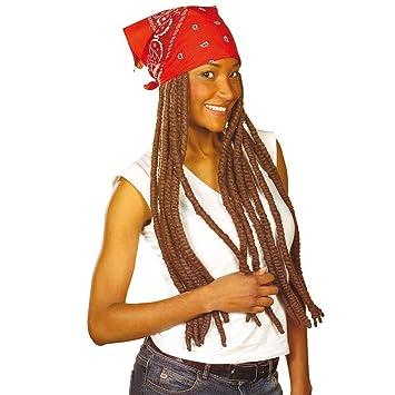 Pañuelo para la cabeza de la peluca marrón con Rasta reggae de la peluca de la