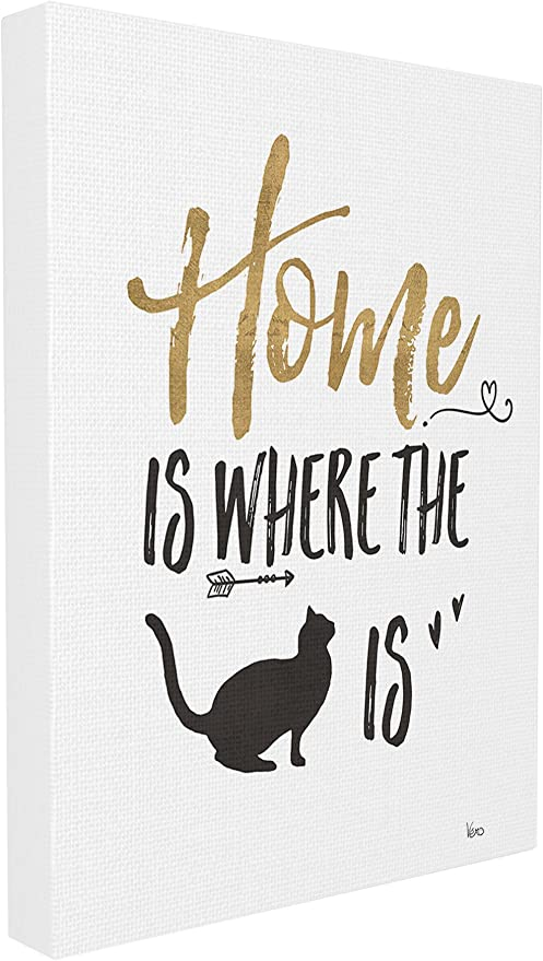 Stupell Industries Cat Lover Typography Oversized Wall Plaque Art Proudly Made in USA