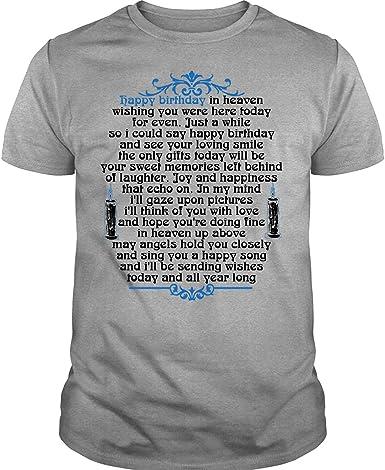 Amazon.com: Coolest Heaven camiseta de feliz cumpleaños en ...