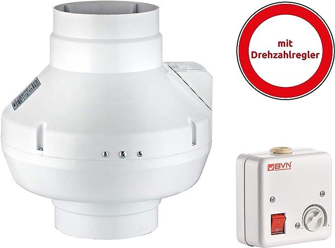 Turbina Ventilador de Conducto Ventilador de Tubo Metal Radial Ventilador Extractor de Aire Bpx Incluye Regulador de Velocidad - 150: Amazon.es: Bricolaje y herramientas