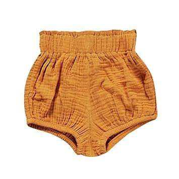 feiXIANG Ropa de bebé Pantalones Cortos de bebé recién Nacido Bebé niña Linda Triángulo de algodón Pantalones Cortos Medias Pantalones de casa Primavera y ...