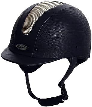 qhp – Casco de equitación – Cap Premium Rider Blue cocodrilo – Color Azul Oscuro,