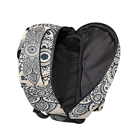 Amazon.com : GIOVANIOR Hippie Mandala Backpack School Bag Bookbag Hiking Travel Rucksack : Sports & Outdoors