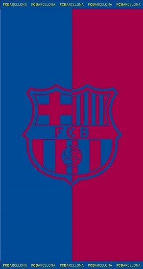 EXCLUSIV * 100% algodón FC Barcelona Toalla Barcelona Toalla de playa (Jacquard 160 cm Grande inoxidable: Amazon.es: Deportes y aire libre