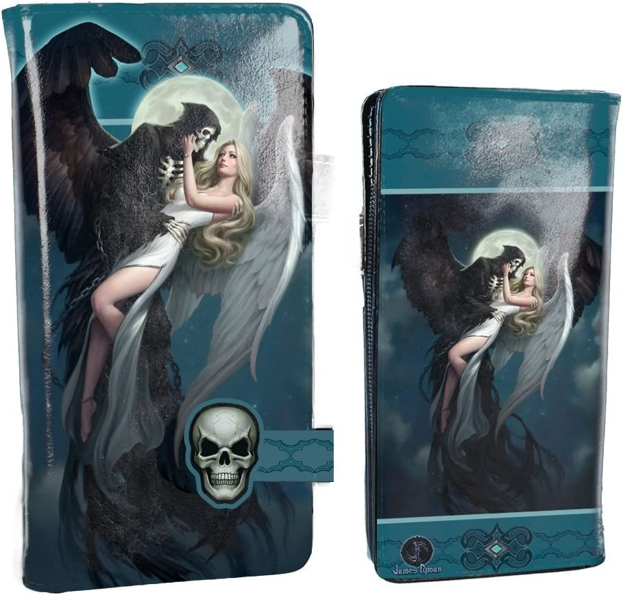 PU One Size Nemesis Now Angel and The Reaper James Ryman Embossed Purse 18.5cm Blue
