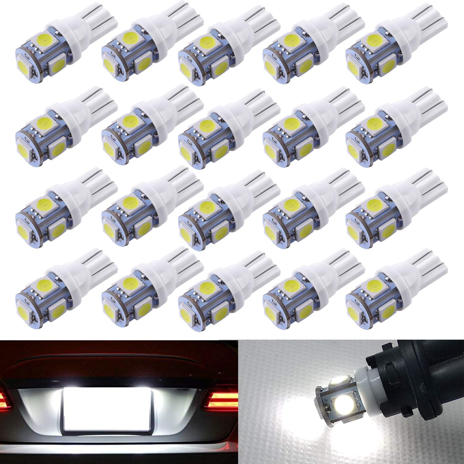 AOKEzl Extremely Bright 1156 1141 BA15S 7506 54-SMD 3014 LED Bulbs for Car Interior RV Camper 6000K Xenon White Pack of 20