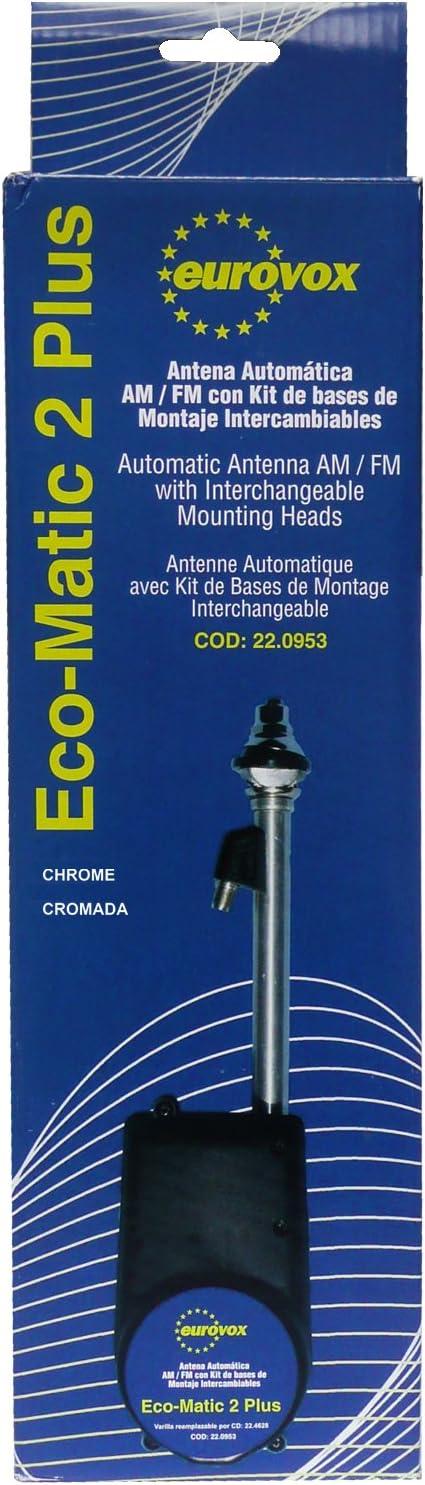 Eurovox EUR050420 - Antena automática Universal con 10 Cabezales Intercambiables
