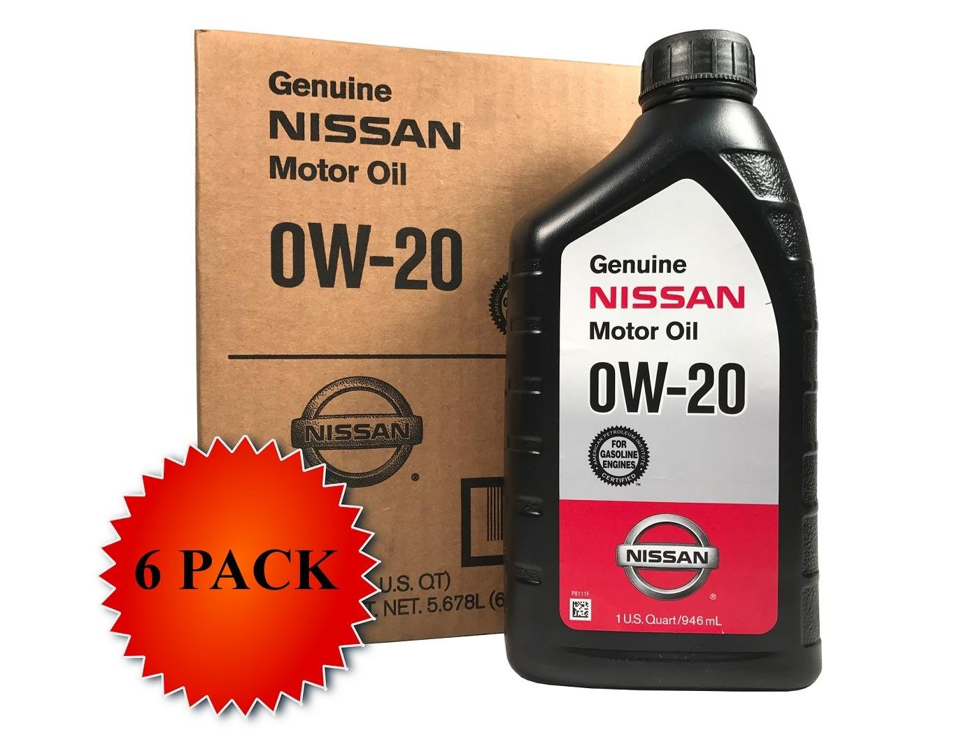 Amazon com genuine nissan synthetic 0w 20 motor oil 999pk 000w20n case of 6 automotive