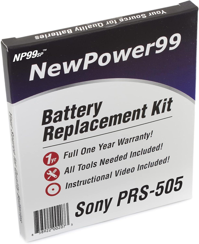 Kit de Reemplazo de la Batería para el Sony PRS-505 eReader con Video de Instalación, Herramientas y Batería de Larga Duración