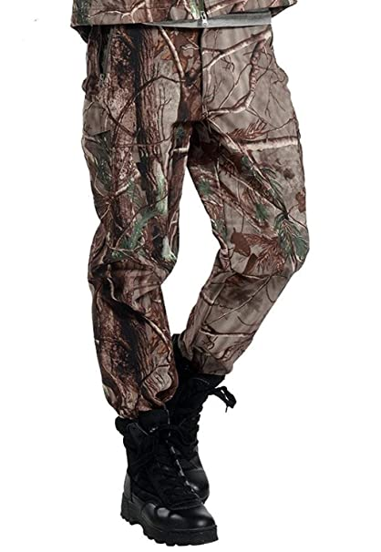 60016890aaf17 TongCart Tactique imperméable à l'eau Soft Shell Pantalons Hommes Hiver  Coupe Camouflage Polaire Militaire Pantalon Armée Chasse Camouflage