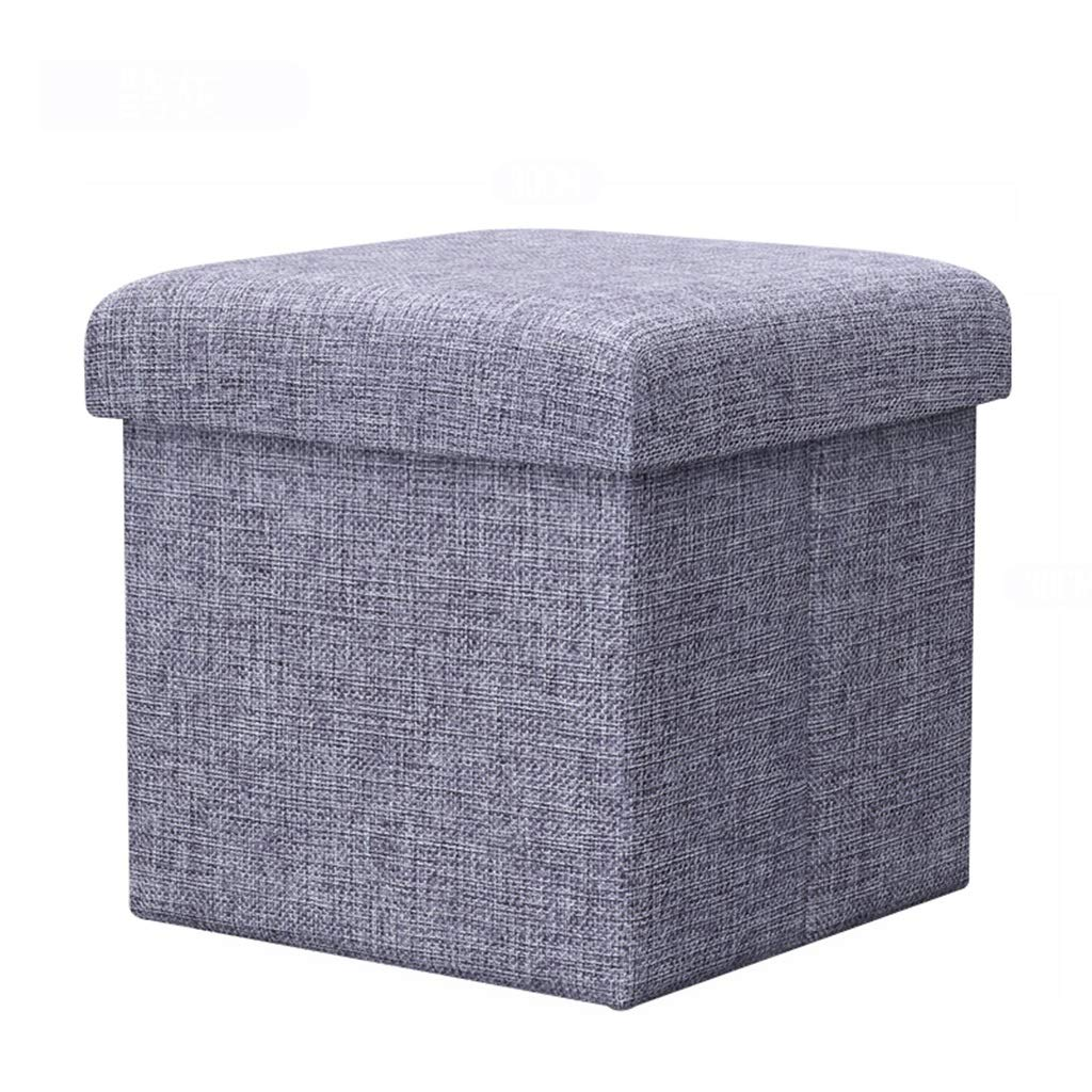Stool - storage stool, folding stool, multi-purpose shoe bench, fabric sofa stool (Color : A, Size : 383838cm)