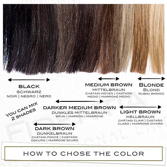 Fidentia Maquillaje Capilar   Corrector de Pelo   Retoca las raíces, canas y la pérdida de cabello al instante   12g Marrón Oscuro