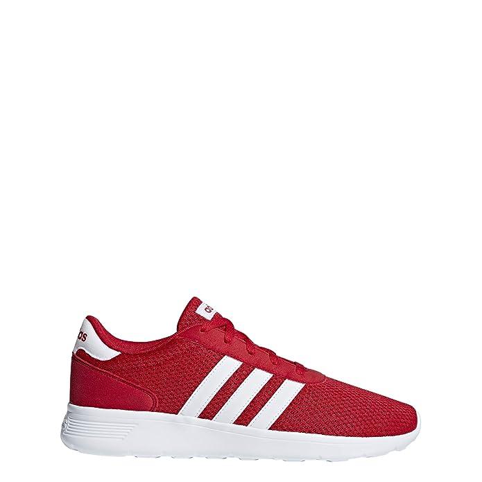 adidas Lite Racer Schuhe Herren rot mit weißen Streifen