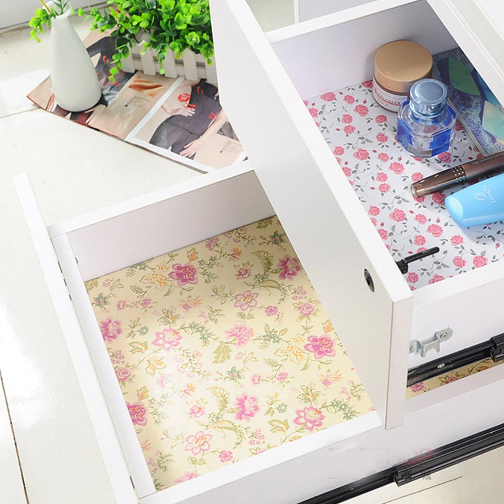 Amazon.com - yazi Self Adhesive Shelf Liner Moisture Proof Drawer ...