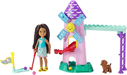 Amazoncom Barbie Club Chelsea Mini Golf Doll And Playset Toys Games