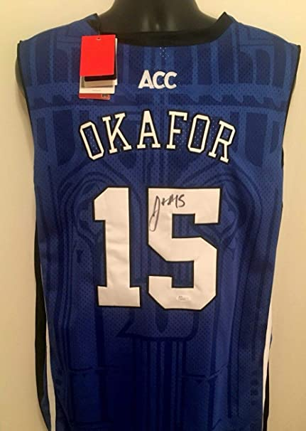 51e210ef81a Jahlil Okafor Duke Blue Devils Autographed Signed Memorabilia Jersey Coa  JSA at Amazon's Sports Collectibles Store