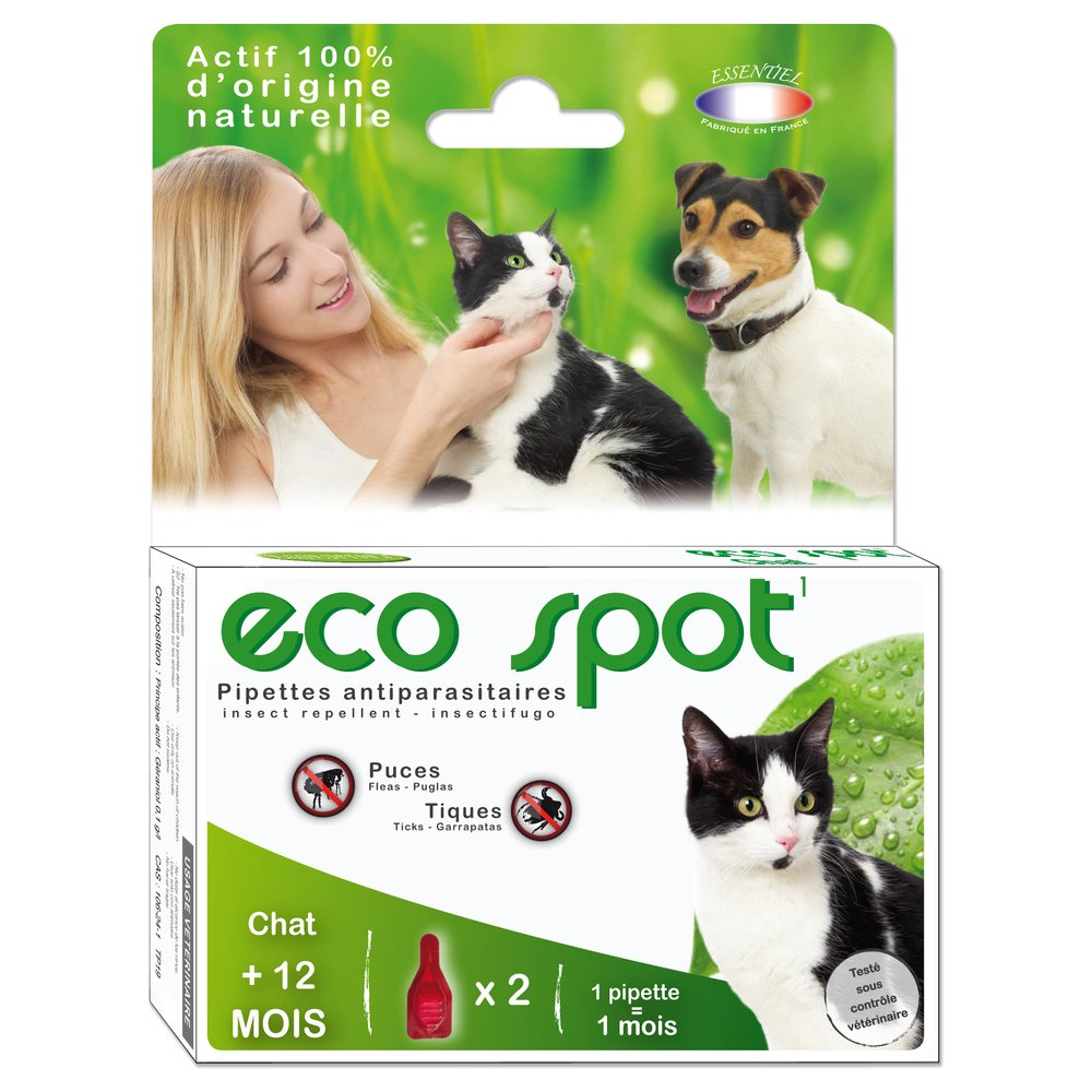 essentiel - Producto Natural - Pipetas Eco Foco para Gatos: Amazon.es: Productos para mascotas