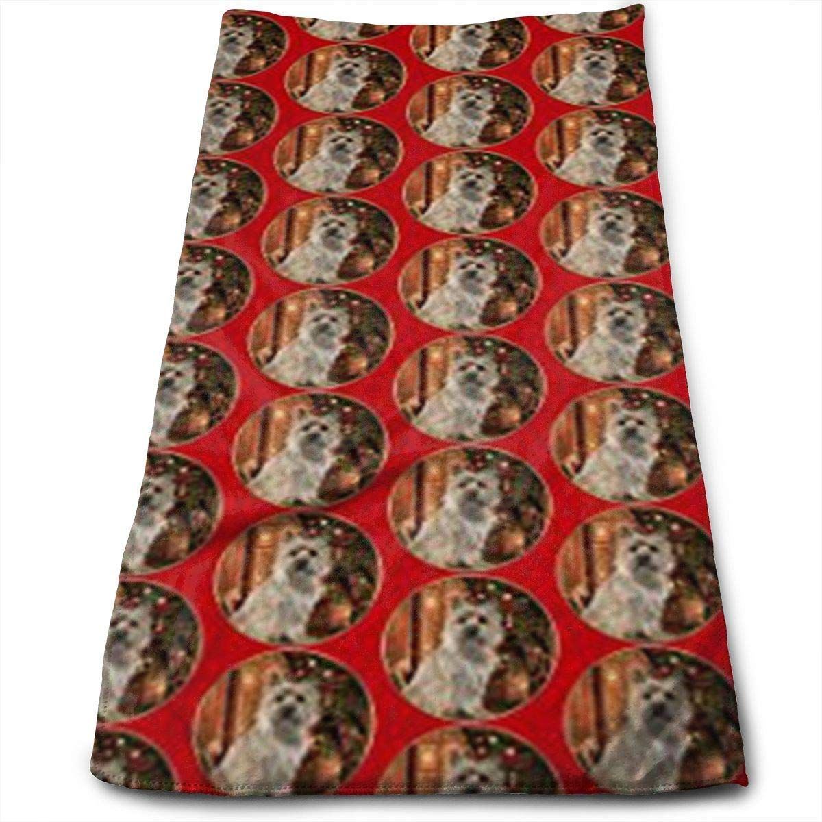 Sangeigt Handtuch r\n Baking Cairn Terrier Christmas Dish Towels,Oversized Kitchen Towels for Drying,Cleaning,Cooking