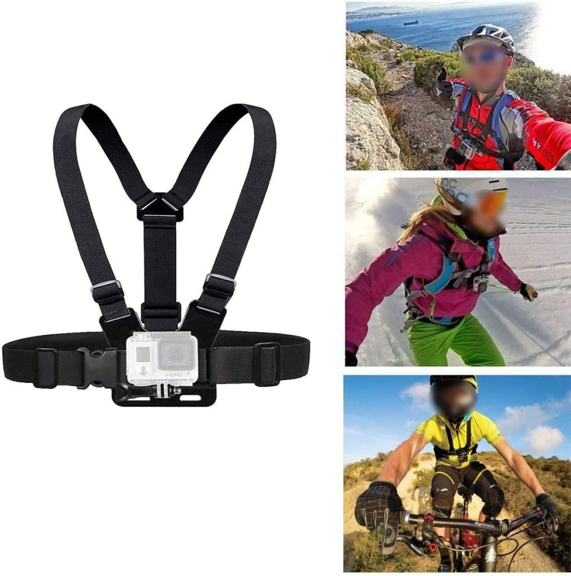 dfgjdryt Charming Adjustable Chest Strap Harness Mount For GoPro HD Hero for Home Decoration None black