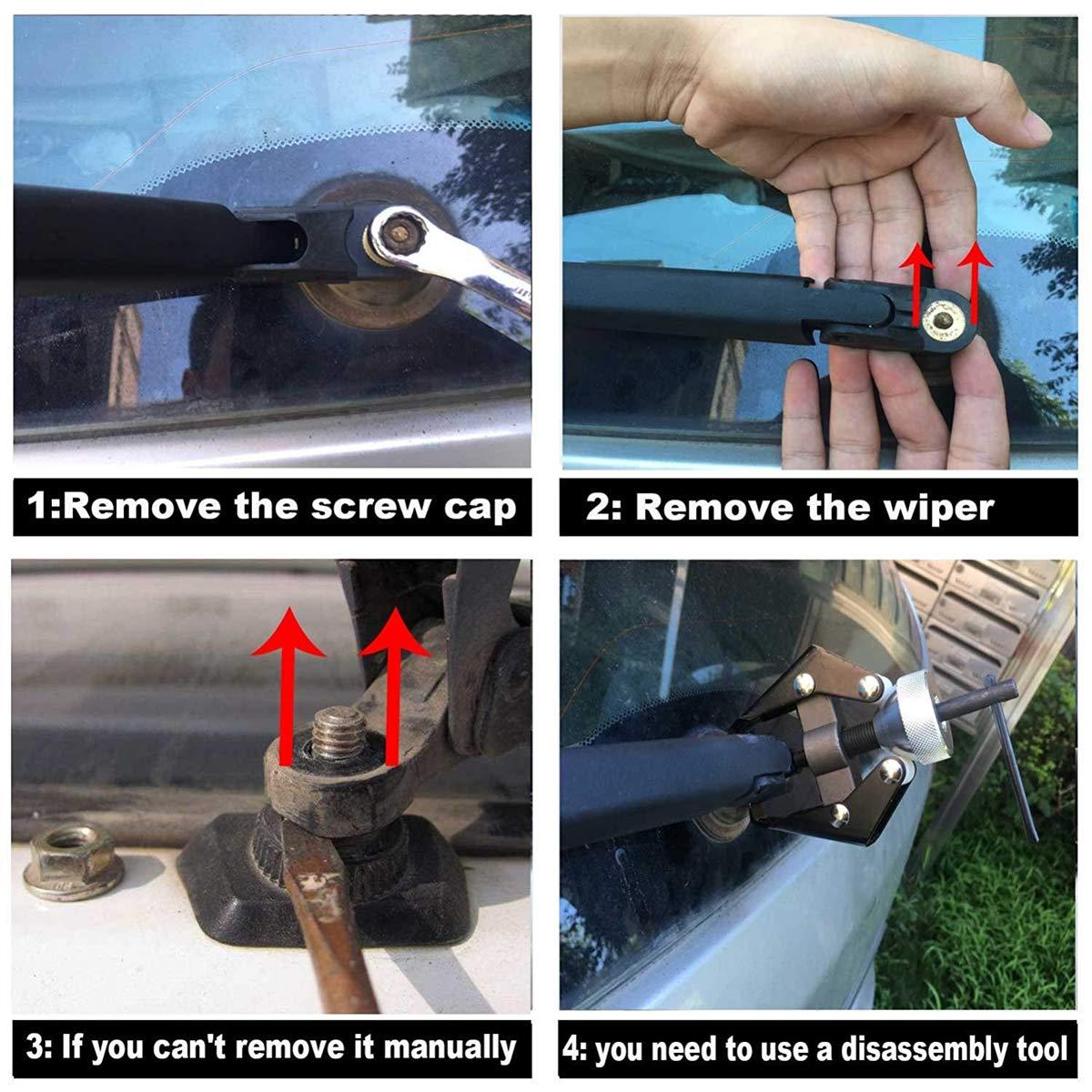 68040371A// 68079868AA// 85241-42070 AUTVAN Rear Windsheild Back Wiper Arm and Blade Set for Jeep Grand Cherokee 2011-2015 Toyota Land Cruiser Lexus LX570 2008-2015 GX470 2003-2009 Arm Rear Wiper OE