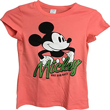 Amazon.com: Mickey Mouse One y sólo playera para niña Pink 6 ...