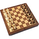 """HOLYKING 11.6"""" Folding Wooden Chess Set - Portable Travel Chess Game Set with Storage Bags"""