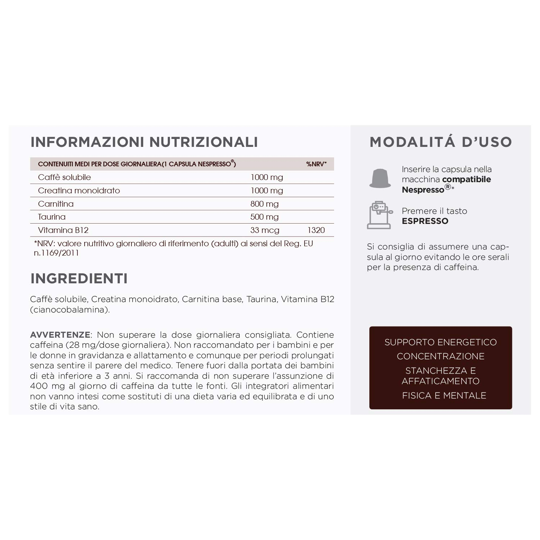 Potente Energetico Café Creatina Carnitina Taurina Vitamina B12 Sin Gluten Leche Azúcar Adelgazante Veganos: Amazon.es: Salud y cuidado personal