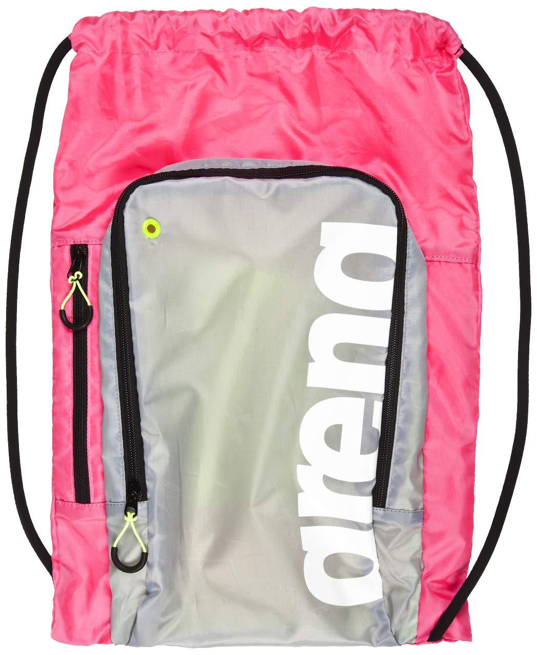 Arena Fast Sack Swim Drawstring Backpack, Magenta/Grey