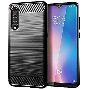 TopACE Funda para Xiaomi Mi 9 SE, Funda Móvil de Fibra de Carbono Carcasa Móvil Cepillada de Silicona Suave Simple Ligera y Anti-caída Protector Móvil ...