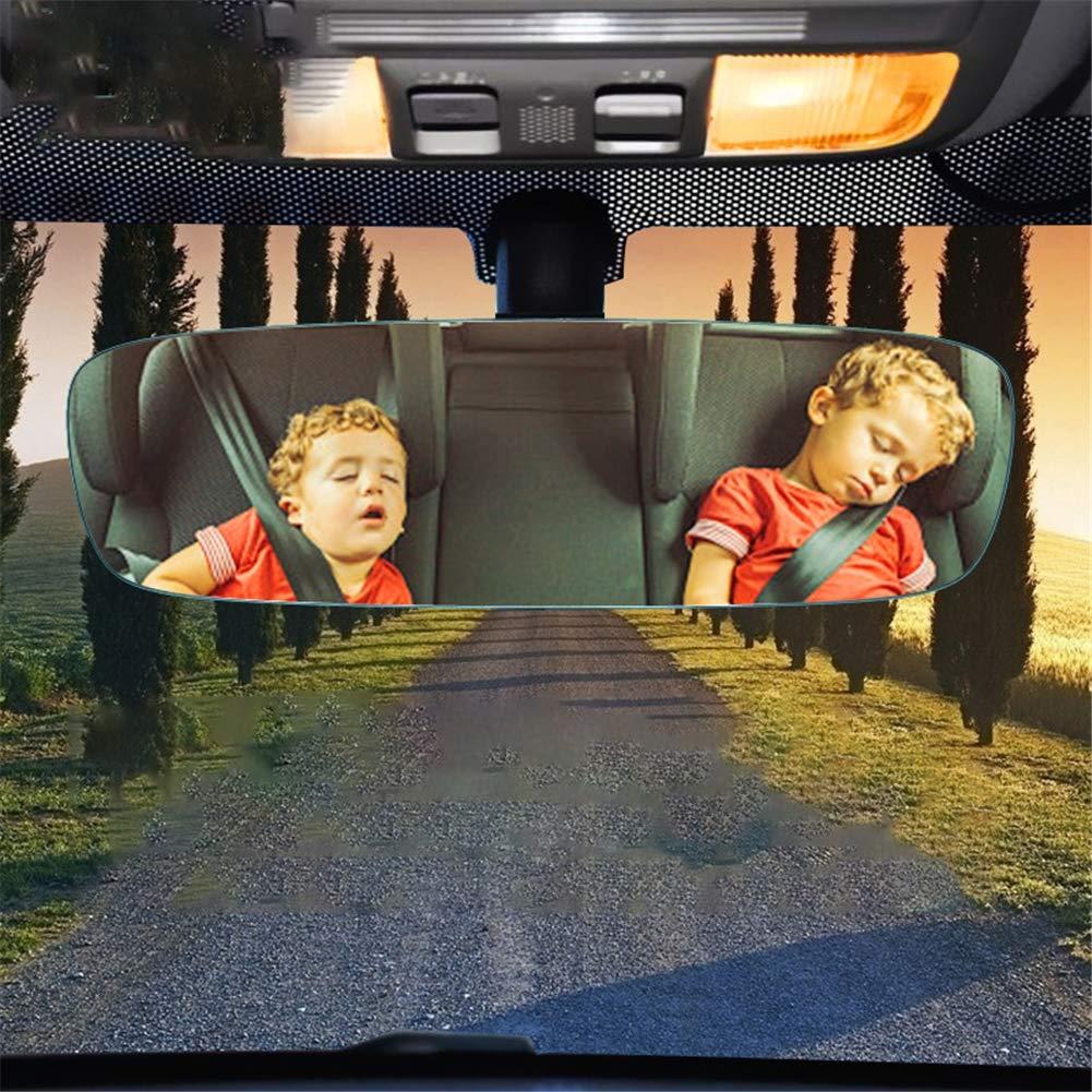 barriendo efectivamente los Puntos Ciegos s/úper Boo Espejo HD sin Bordes con Gran Campo de visi/ón LILOQP Espejo retrovisor panor/ámico del autom/óvil