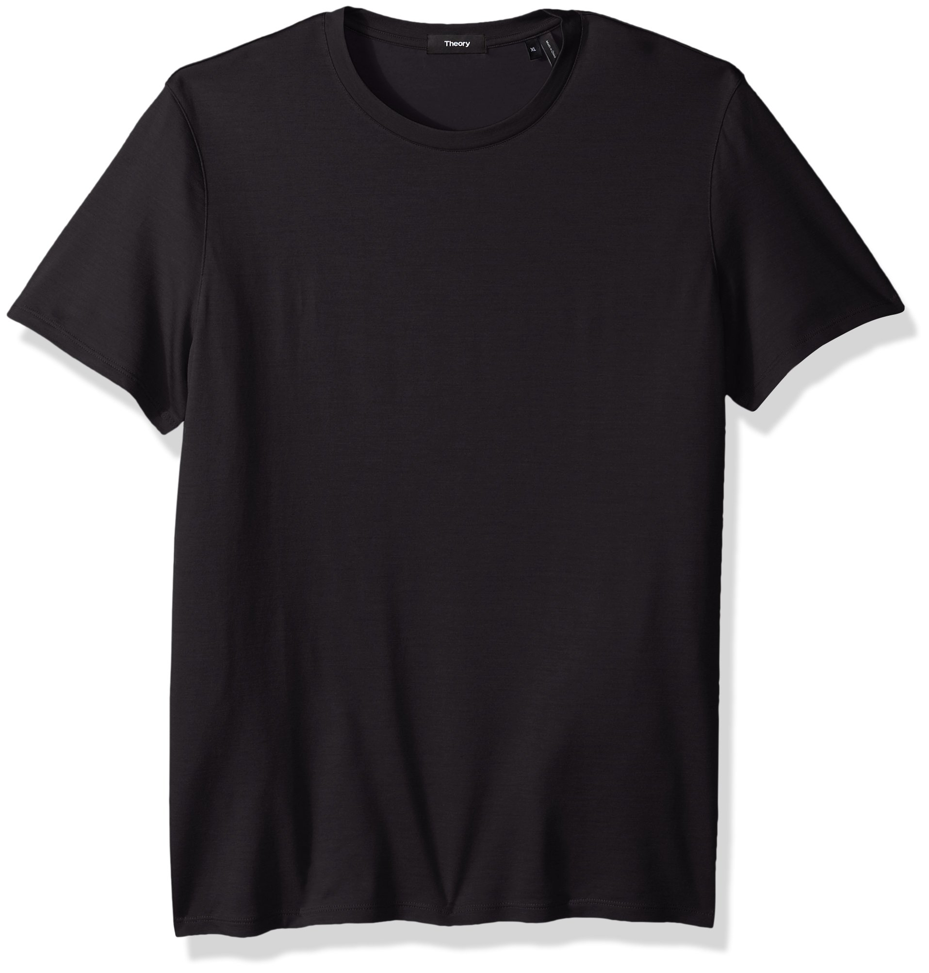Theory Men's Dressy Silk Blend Crew Neck T-Shirt, Night, M