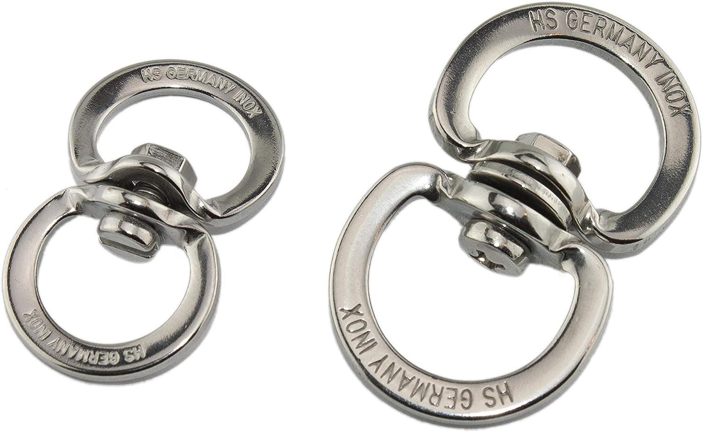 Silber 5//8 HS Sprenger 1x Doppelwirbel gestanzt Gr/ö/ße: 16 mm Edelstahl