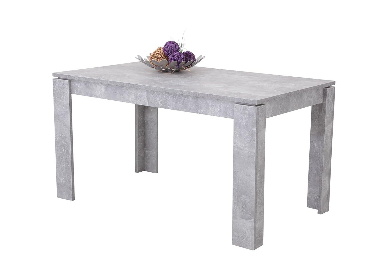 Esstisch Betonoptik esstisch küchentisch esszimmertisch tisch rechteckig beton