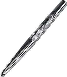 WOLFCRAFT 7980010 punzón Cromado, para marcar el Punto de Taladro Pack 1, plata, 8 x 125 mm