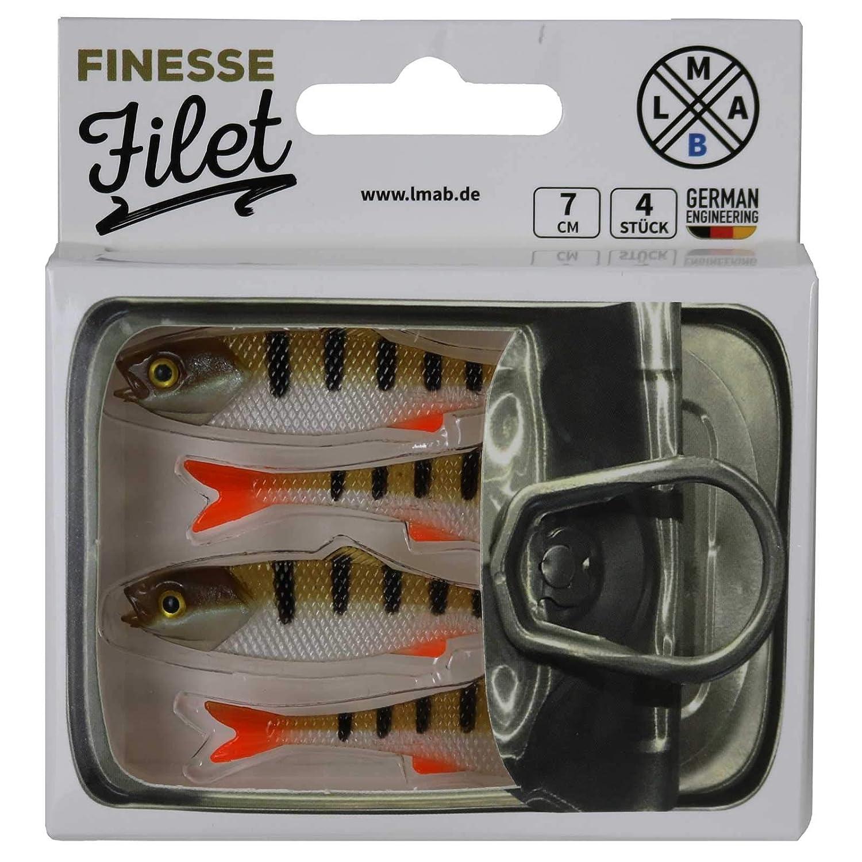 LMAB Finesse Filet; Firetiger; 7 Cm 4 STK.