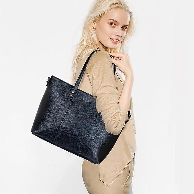 Bageek Bolsos de Mujer Bolso Bandolera Bolsos Tote Bag Bolsos Shopper Bolsos de Cuero Sintético Mujer Bolso de Mano Bolsas Para Dama (Negro): Amazon.es: ...
