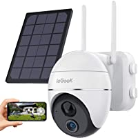Security Camera Outdoor, Wireless WiFi 360° PTZ Camera, ieGeek 15000mAh Solar Security Camera Battery Powered, Home…