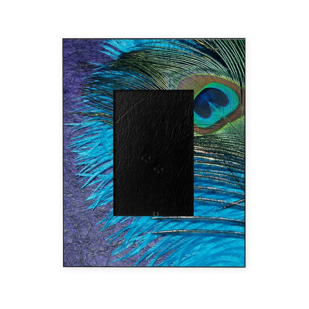 CafePress - Purple And Teal Peacock - Decorative 8x10 Picture Frame