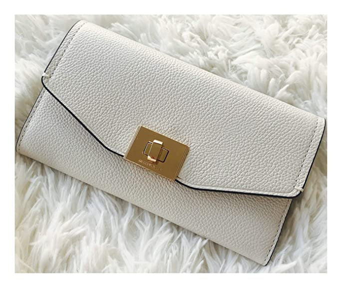 0260e3b78a65 Michael Kors Cassie Large Trifold Wallet Vanilla Leather at Amazon ...